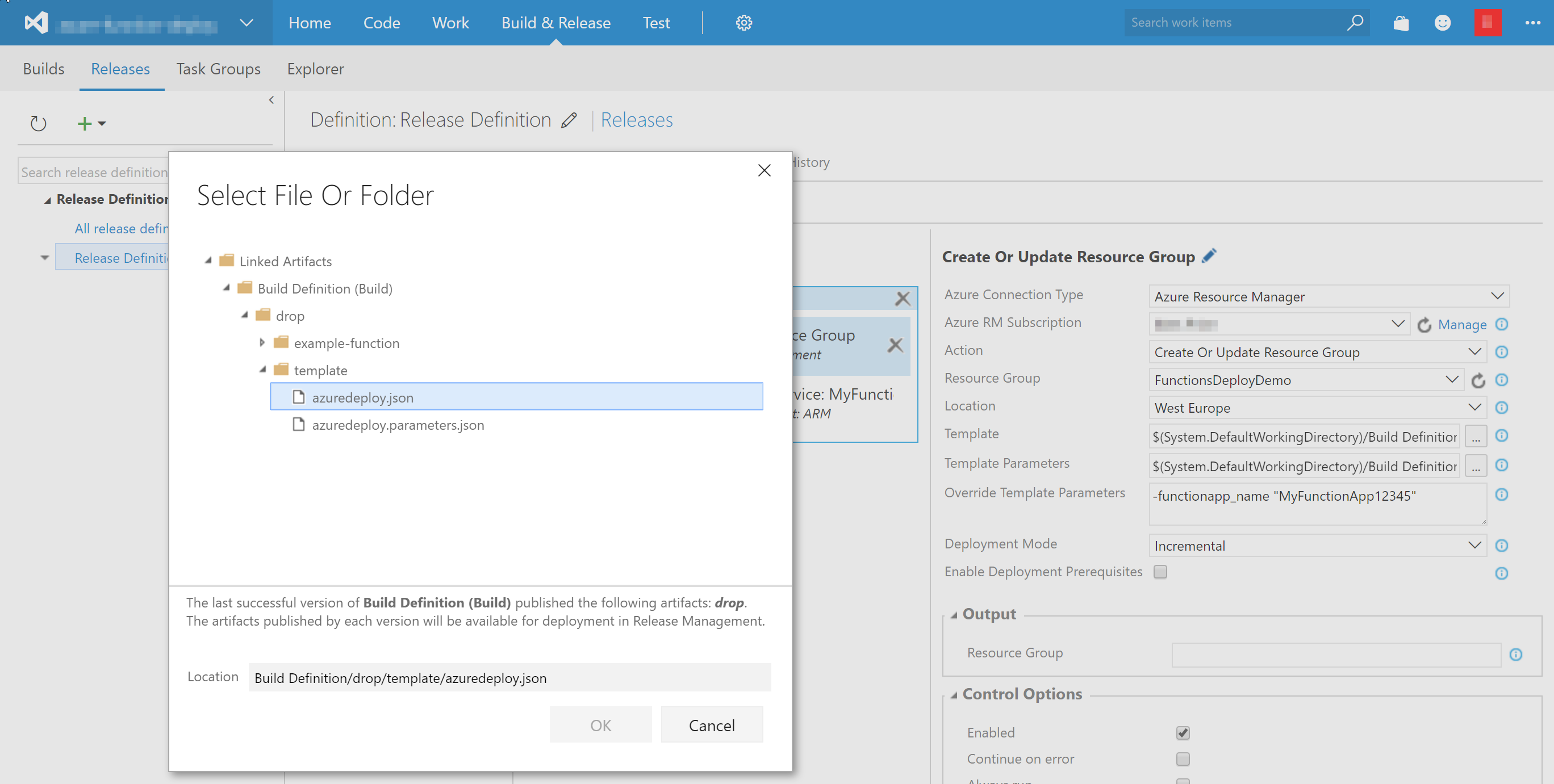 Deploy your Azure Functions using Visual Studio Team Services